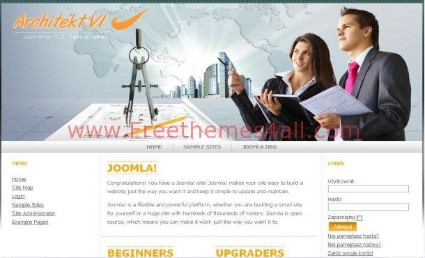 Free Business Architecture Joomla Theme