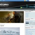 Games Grunge Black Blogger Theme