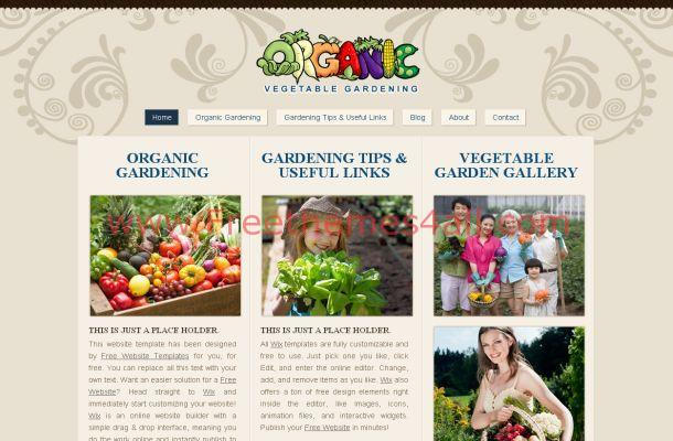 Gardening Floral Brown HTML Website Template