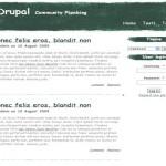 Green White Business Drupal Theme