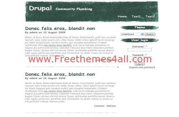 Grunge Green White Business Drupal Theme Template