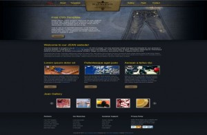 Free CSS Blue Jeans Store Website Template