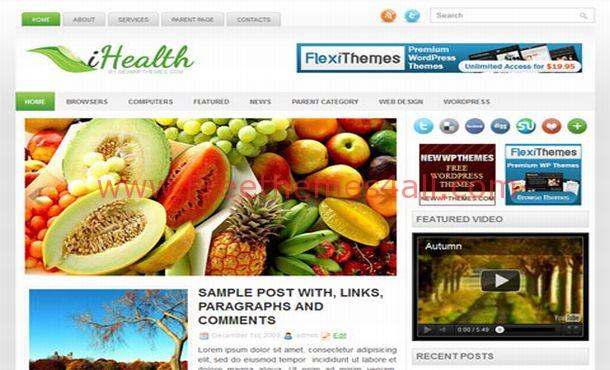Free Green Health Grunge Blogger Theme Template