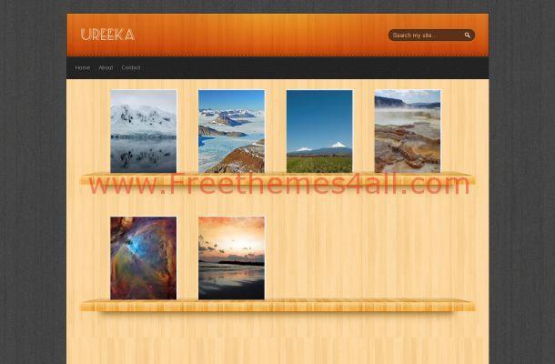 Wooden Portfolio Jquery Free Blogger Theme Template