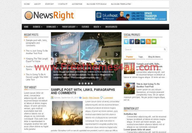 Newspaper Magazine Free Blogger Template