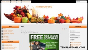 Free Restaurant Recipes Joomla Theme