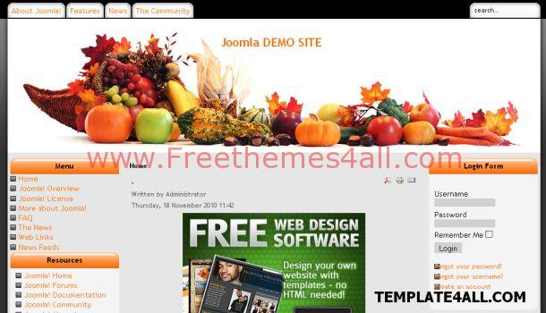 Free restaurant recipes joomla theme template download free restaurant recipes joomla theme forumfinder Choice Image