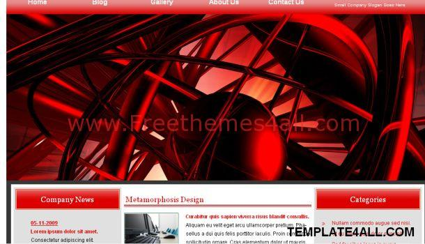Red Storm Jquery CSS Template