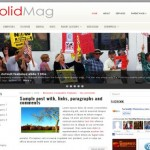 Grunge News Red Free Wordpress Theme