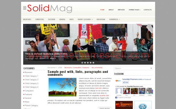 Grunge News Red Free Wordpress Theme