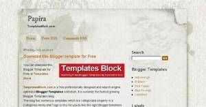 Free Web2 Papira Paper Grunge Blogger Template