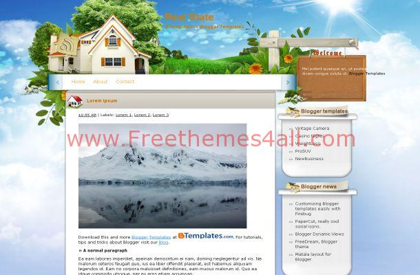 Free Vector Art Real Estate Blogger Template Style