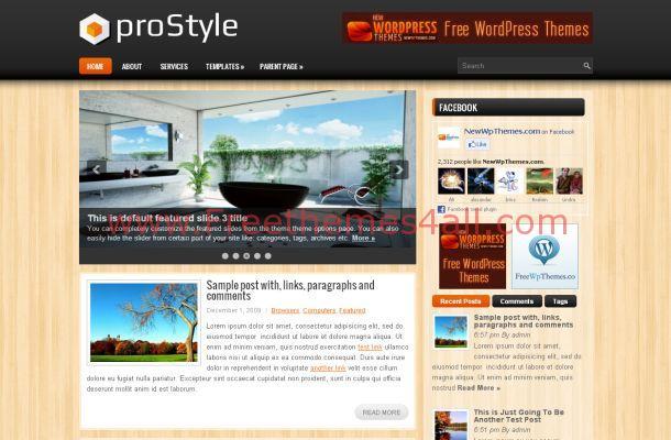 Free WordPress Premium Wooden Theme Template