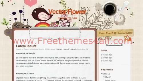Flower Blogger Template