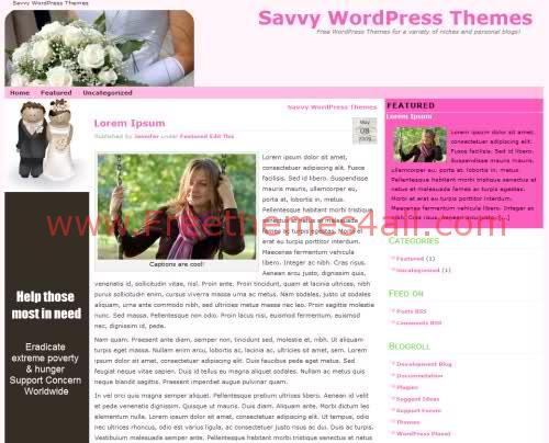 Free WordPress Wedding Blog Web2.0 Theme Template
