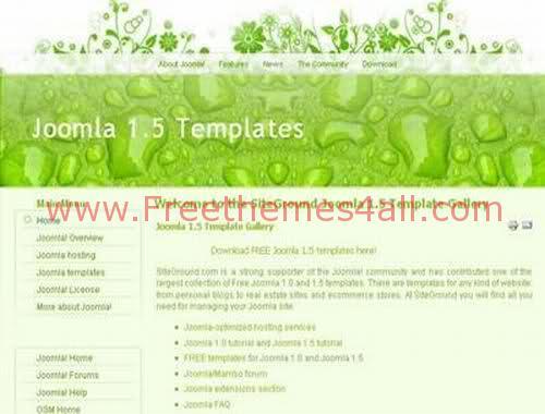 Free Joomla Design Light Green Web2.0 Template