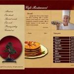 Brown Cafe Restaurant Flash Template
