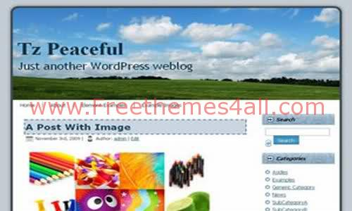 ThemesZoo Peaceful - A Free WordPress Theme