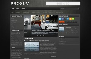 Abstract Cars Blogger Theme