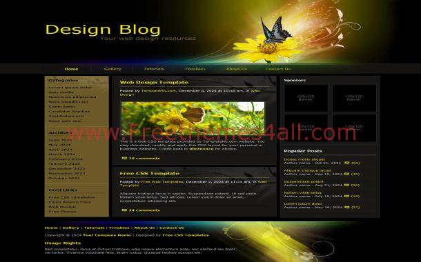 Butterfly Free CSS Template