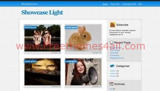 Light Blue Blogger Template