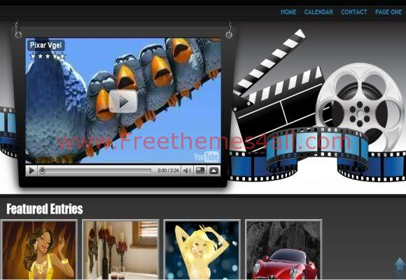 Free Blogger Movies Blue Blog Web2.0 Template