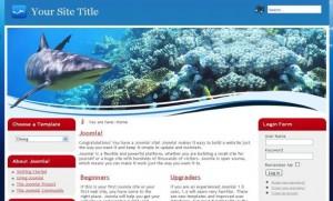 Blue Fish Joomla Theme