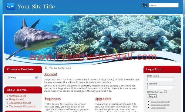 Blue Fish Joomla Theme