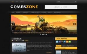 Yellow Games Blogger Theme
