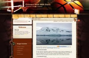 Basketball Blogger Layout
