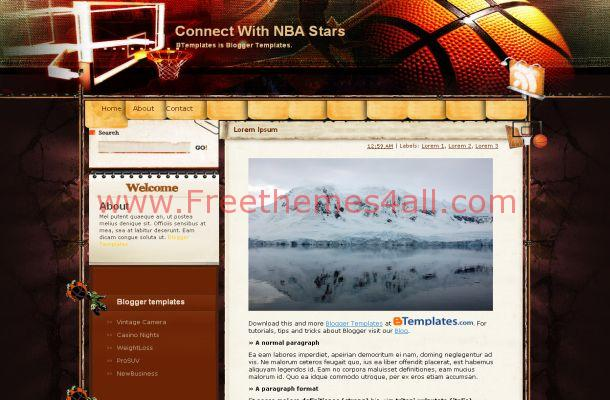 Basketball Blogger Layout