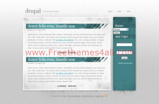 Free Drupal Grey Green Business Theme Template