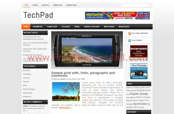 Mobiles News Free Wordpress Theme