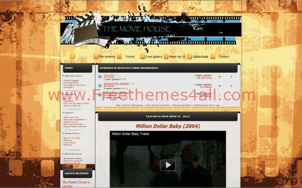 Wooden Movies Phpfusion Theme