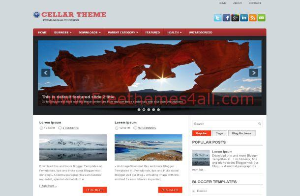 Blue Brown Blogger Template