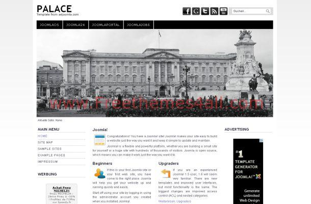 Hotels Palace Black Jquery Joomla Theme Template