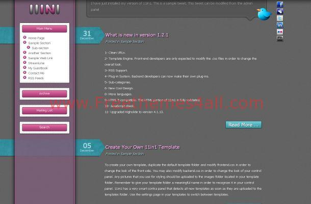 11in1 Free Blog CMS Script