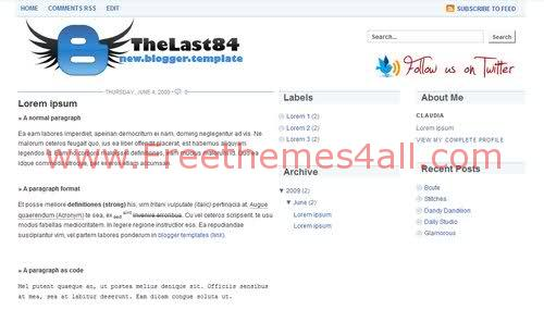 Free Blogger Clear White 4 Columns Template