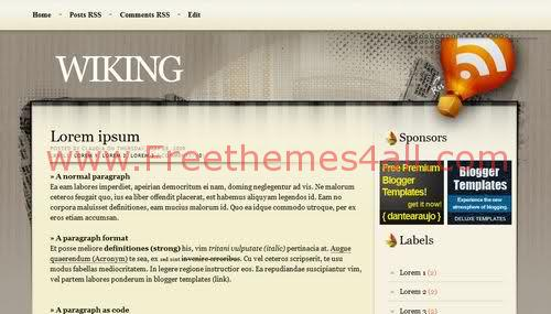 Brown Blogger Template