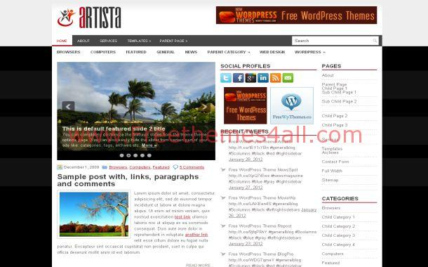 Business Chrome Jquery Free WordPress Theme