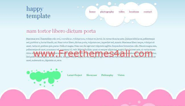 Free CSS Blue Pink Website Template