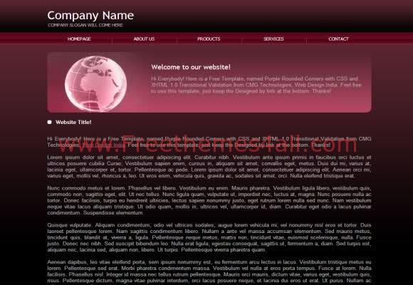 Purple Black Hosting Css Template Download