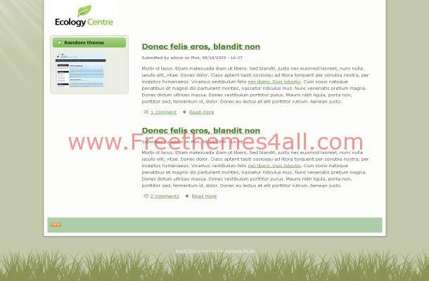 Free Drupal Green Ecology Theme Template