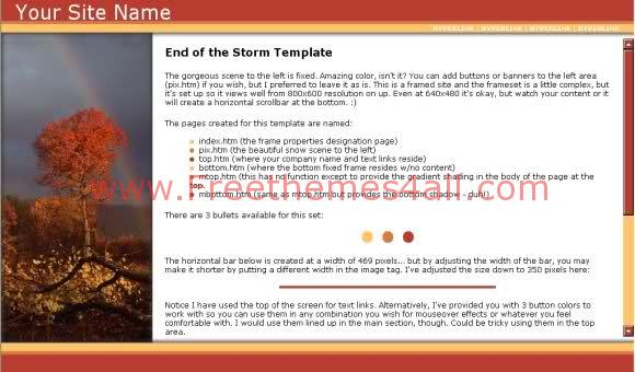 Free Web Template Storm Forest Brown Template
