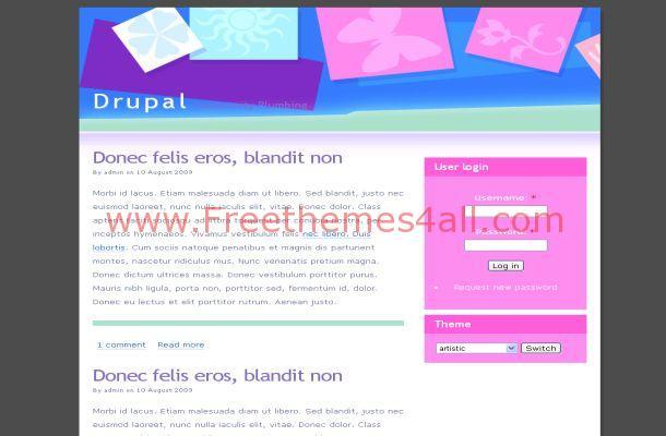 Pink Blue Drupal Theme