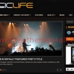 Magazine Black Music Blogger Template