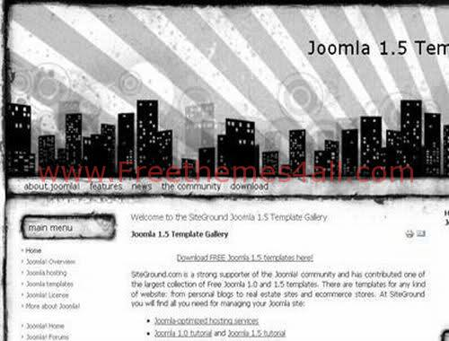 Free Joomla City Black and White Web2.0 Template