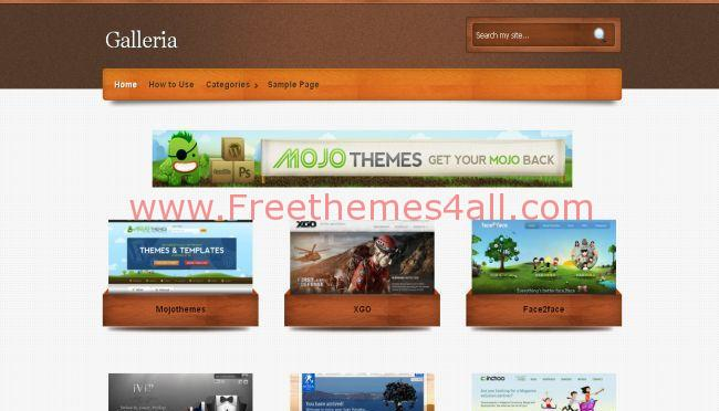 Wooden Gallery Wordpress Theme