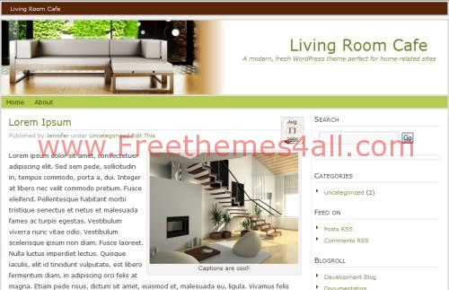 Free WordPress Home Interior Design Theme Template