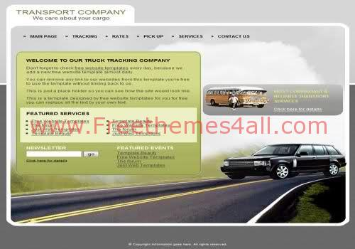 Free HTML Transportation Company Web Template